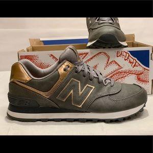 New Balance Shoes - New Balance 574 - Rose Gold/Metallic/Gray